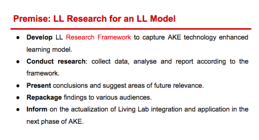 Goals of the AKE LL Research Component